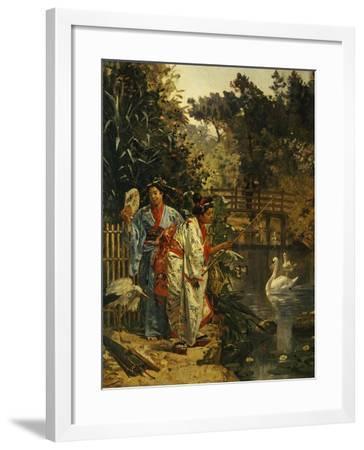 In a Japanese Garden-Edouard Castres-Framed Giclee Print