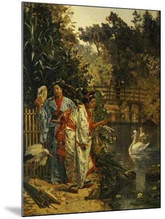 In a Japanese Garden-Edouard Castres-Mounted Giclee Print