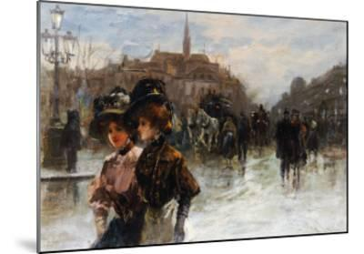 A Street Scene with Elegant Ladies, Paris-Max Lugi-Mounted Giclee Print