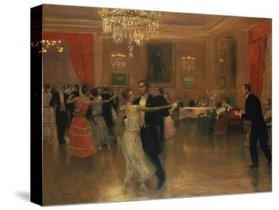 At the Ball-Frederick Vezin-Stretched Canvas Print