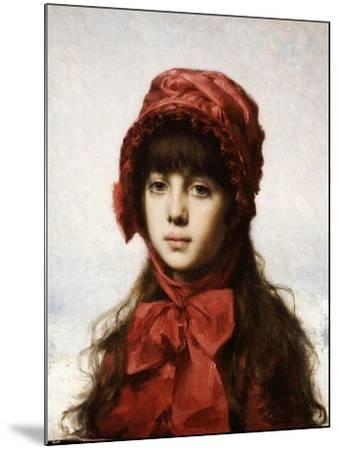 The Red Bonnet-Alexei Alexeivich Harlamoff-Mounted Giclee Print