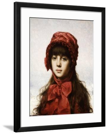 The Red Bonnet-Alexei Alexeivich Harlamoff-Framed Giclee Print