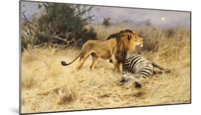 A Lion with His Prey-Wilhelm Kuhnert-Mounted Giclee Print