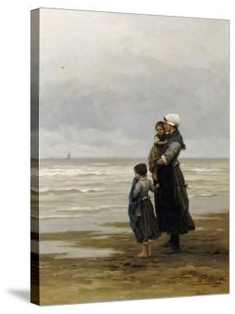 Waiting for the Boats, 1881-Philippe Lodowyck Jacob Frederik Sadee-Stretched Canvas Print