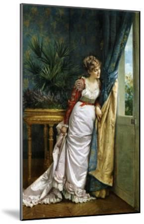 Awaiting the Visitor, 1878-Auguste Toulmouche-Mounted Giclee Print