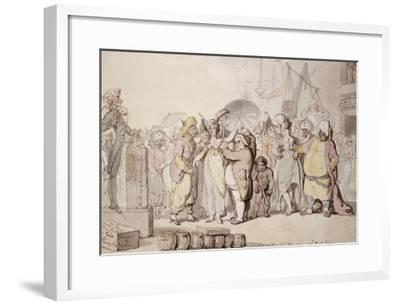 A Sale of English Beauties in the East Indies, circa 1810-Thomas Rowlandson-Framed Giclee Print