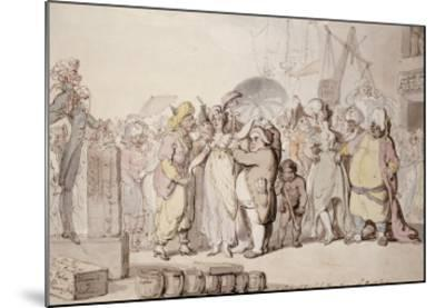 A Sale of English Beauties in the East Indies, circa 1810-Thomas Rowlandson-Mounted Giclee Print