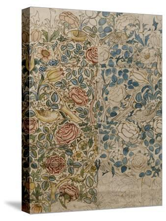 Design for Chintz: Rose-William Morris-Stretched Canvas Print