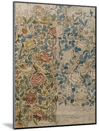 Design for Chintz: Rose-William Morris-Mounted Premium Giclee Print