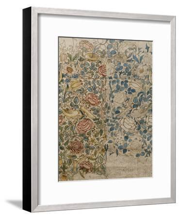 Design for Chintz: Rose-William Morris-Framed Giclee Print