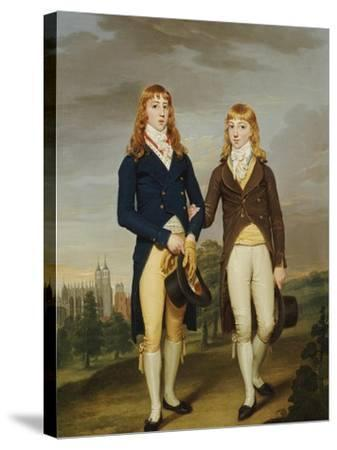 Portrait of Two et on Schoolboys, et on Chapel Beyond-Francis Alleyne-Stretched Canvas Print
