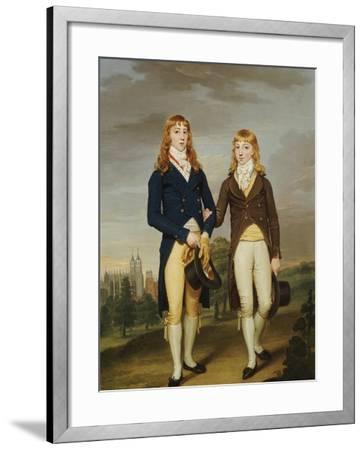 Portrait of Two et on Schoolboys, et on Chapel Beyond-Francis Alleyne-Framed Giclee Print
