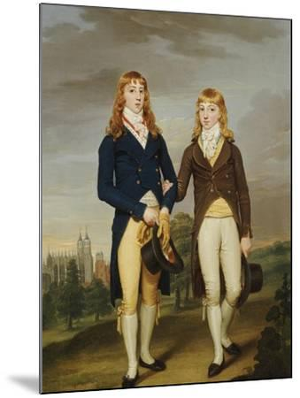 Portrait of Two et on Schoolboys, et on Chapel Beyond-Francis Alleyne-Mounted Giclee Print