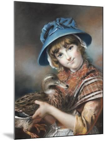A Market Girl Holding a Mallard Duck, 1787-John Russell-Mounted Giclee Print