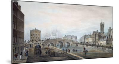 Matthew Bridge and the Customs House, with the Tower of St. Marys Cathedral, 1819-Samuel Frederick Brocas-Mounted Giclee Print