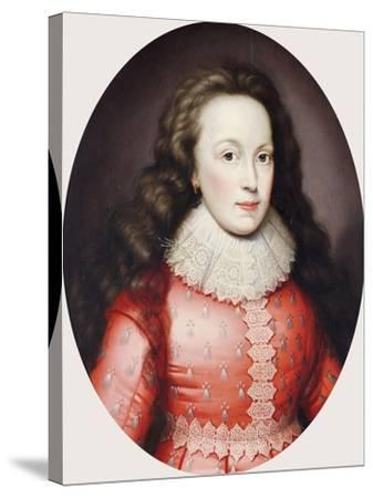 Portrait of a Lady Called Alathea, Countess of Arundel, 1619-Cornelius Johnson-Stretched Canvas Print
