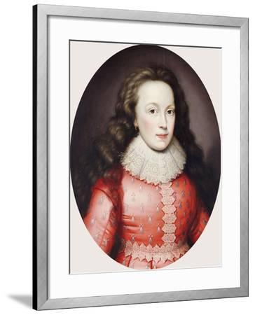 Portrait of a Lady Called Alathea, Countess of Arundel, 1619-Cornelius Johnson-Framed Giclee Print