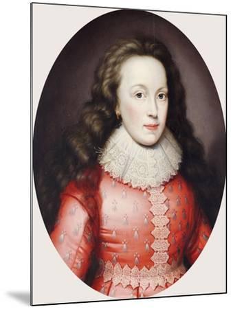 Portrait of a Lady Called Alathea, Countess of Arundel, 1619-Cornelius Johnson-Mounted Giclee Print