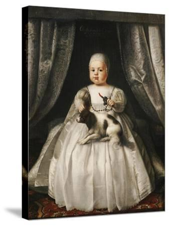Portrait of King Charles II as a Child, French School, circa 1630--Stretched Canvas Print