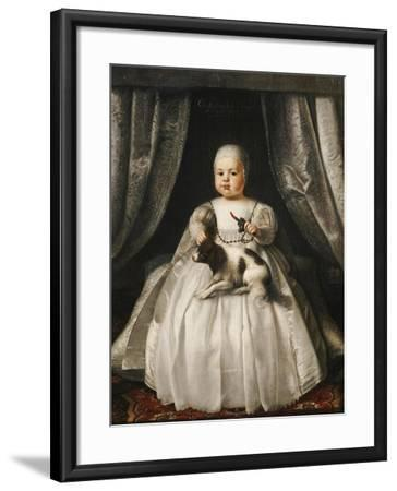 Portrait of King Charles II as a Child, French School, circa 1630--Framed Giclee Print