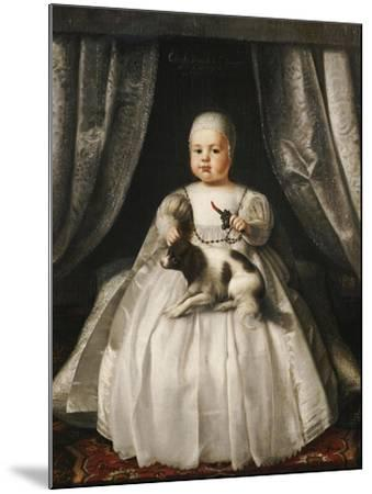 Portrait of King Charles II as a Child, French School, circa 1630--Mounted Giclee Print