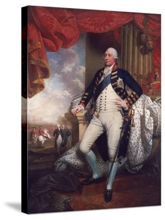 Portrait of George III, 1790-Mather Brown-Stretched Canvas Print