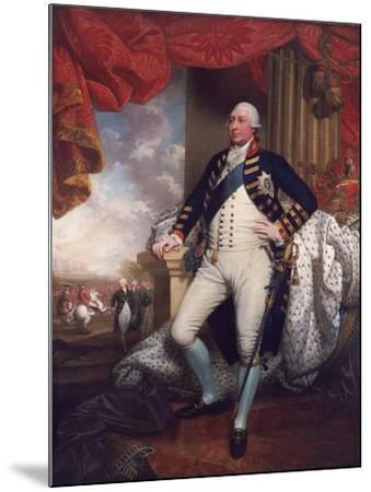 Portrait of George III, 1790-Mather Brown-Mounted Giclee Print