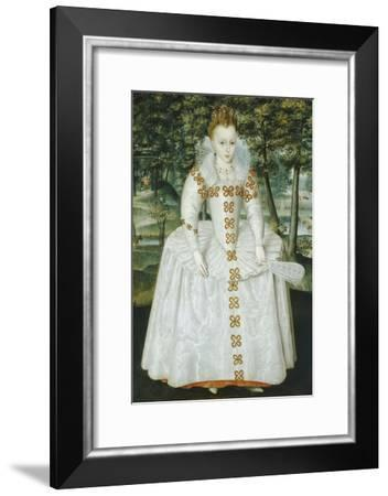 Portrait of a Lady, Traditionally Identified as Queen Elizabeth of Bohemia, Dated 1603-Robert Peake-Framed Giclee Print