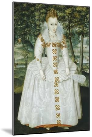Portrait of a Lady, Traditionally Identified as Queen Elizabeth of Bohemia, Dated 1603-Robert Peake-Mounted Giclee Print