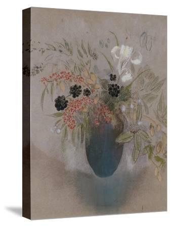 Flowers in a Vase-Odilon Redon-Stretched Canvas Print