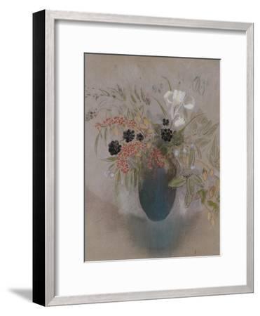 Flowers in a Vase-Odilon Redon-Framed Giclee Print