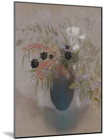 Flowers in a Vase-Odilon Redon-Mounted Giclee Print