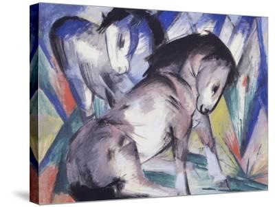Two Horses, 1913-Franz Marc-Stretched Canvas Print