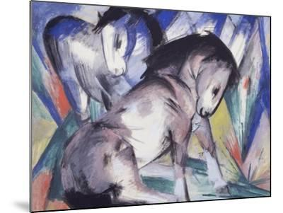 Two Horses, 1913-Franz Marc-Mounted Giclee Print