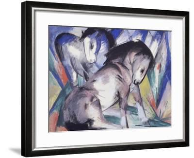 Two Horses, 1913-Franz Marc-Framed Giclee Print