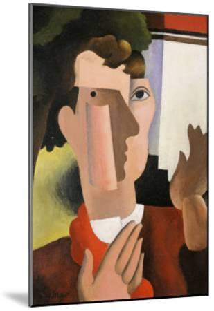 Man with a Red Scarf, 1922-Roger de La Fresnaye-Mounted Giclee Print
