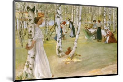 Breakfast in the Open (Frukost I Det Grona), 1910-Carl Larsson-Mounted Premium Giclee Print