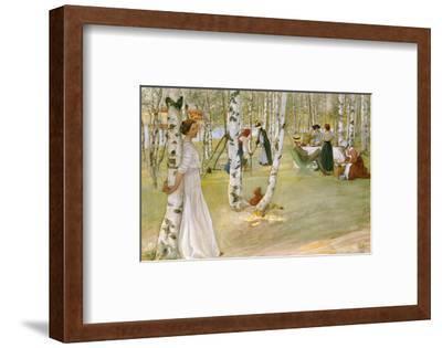 Breakfast in the Open (Frukost I Det Grona), 1910-Carl Larsson-Framed Premium Giclee Print