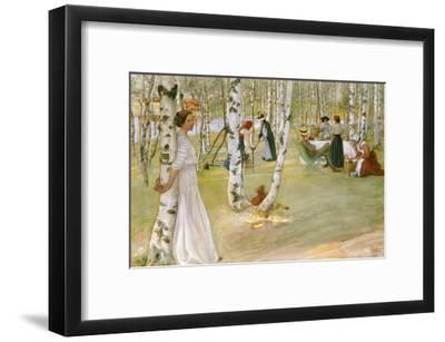 Breakfast in the Open (Frukost I Det Grona), 1910-Carl Larsson-Framed Giclee Print