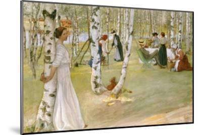 Breakfast in the Open (Frukost I Det Grona), 1910-Carl Larsson-Mounted Giclee Print
