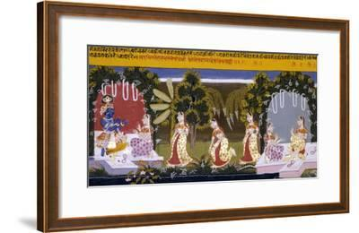 Illustration to the Gita Gorinda, Mewar 1720-1730--Framed Giclee Print