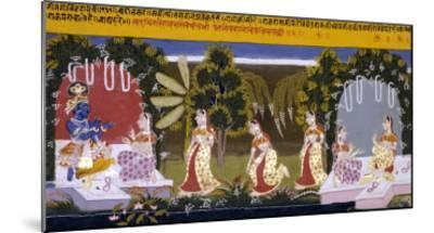 Illustration to the Gita Gorinda, Mewar 1720-1730--Mounted Giclee Print