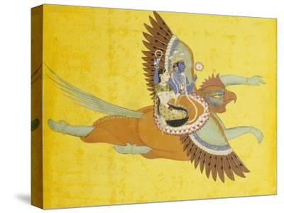 Vishnu and Lakshmi on Garuda Bundi, circa 1700--Stretched Canvas Print