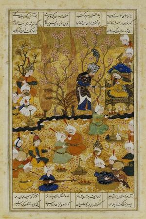 Illustration to the Shahnameh Shiraz, Persia Murhid Al Kabib Al Shirazi, 1539 AD--Stretched Canvas Print