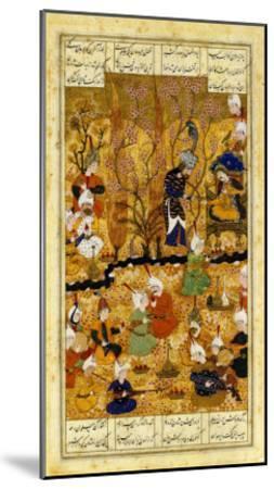 Illustration to the Shahnameh Shiraz, Persia Murhid Al Kabib Al Shirazi, 1539 AD--Mounted Giclee Print