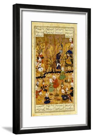 Illustration to the Shahnameh Shiraz, Persia Murhid Al Kabib Al Shirazi, 1539 AD--Framed Giclee Print