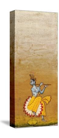 Krishna Fluting--Stretched Canvas Print