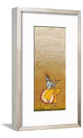 Krishna Fluting--Framed Giclee Print