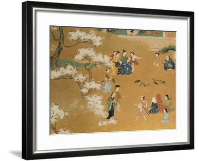 Cock Fight Beneath Cherry Tree Blossoms, 18th Century--Framed Giclee Print