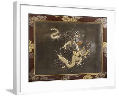 Benten Standing on the Back of a Dragon Holding a Koto, Late 19th Century--Framed Giclee Print